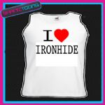 I LOVE HEART IRONHIDE UNISEX VEST TOP